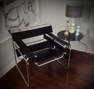 Wassily Armchair  Black Leather