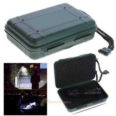Plastic Travel Box Case Flashlight Storage Container Torch Lamp Holder Organizer