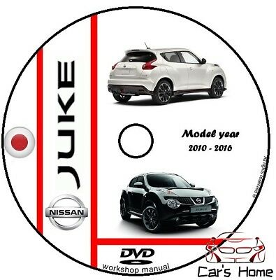 MANUALE OFFICINA NISSAN JUKE my 2010 - 2016 WORKSHOP MANUAL DVD