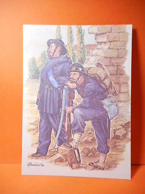 Military Postcard of Italian Soldiers! shows dress of 1870.