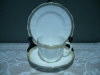 Vintage Royal Crown Derby England 'carlton Gold' Trio - Cup Saucer Plate - Vgc
