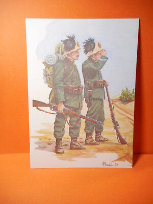 Military Postcard if Italian Soldiers. shows dress of 1911.