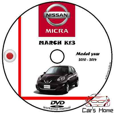 MANUALE OFFICINA NISSAN MICRA MARCH my 2010-2014 WORKSHOP MANUAL DVD