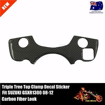 1 PCS Decal Pad Triple Tree Top Clamp Upper Front End Fit SUZUKI GSXR1300 08-12