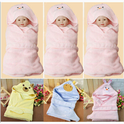 US Stock Newborn Baby Swaddle Wrap Swaddling Blanket Sleeping Bag Fleece Blanket