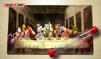 FREE TUBE Yugioh Playmat Play Mat Large Mouse Pad Pokemon #026