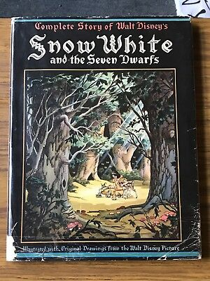 Walt Disney Signed 1st Edition Snow White And The Seven Dwarfs Book PSA/DNA