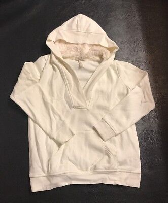 Old Navy Maternity Women Medium Jacket coat hoodie White soft fall comfy