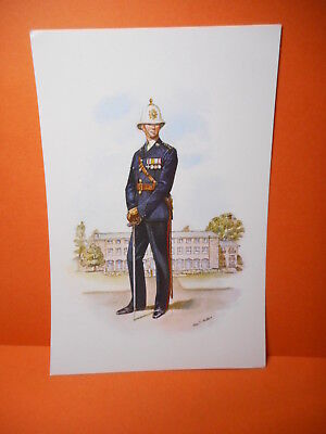 Military Postcard AN OFFICER OF THE ROYAL MARINES 1971.