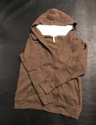 Old Navy Maternity Women Medium Jacket coat hoodie Brown soft fall comfy