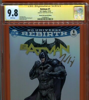 Batman #1~Cgc Ss 9.8~Day Special Edition~Signed By Tom King~Dark Knight~Dc Comic