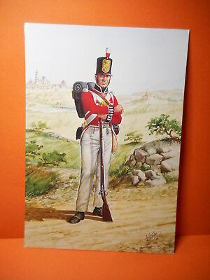 Military Postcard THE COLDSTREAM GUARDS 1812. set 28 card # 2.