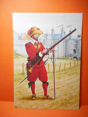 Military Postcard THE COLDSTREAM GUARDS,1661. SET 29 CARD # 1.