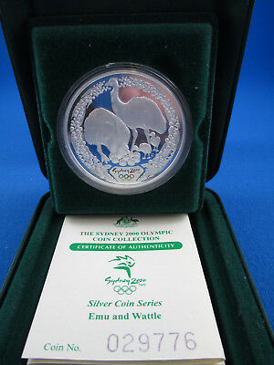 2000 $5 Sydney Olympic 1Oz Silver Coin - Emu & Flora - Superb!! Numbered: 029776