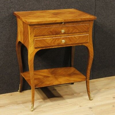 Small table wood furniture bedside secretary desk antique style 900