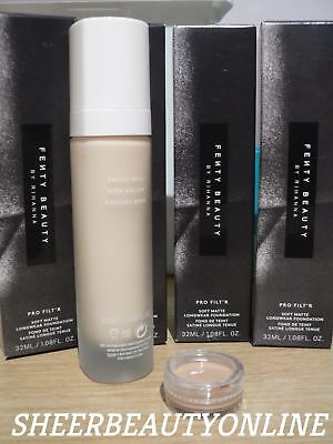 ❤❤FENTY BEAUTY PRO FILT'R Soft Matte Foundation 1 Or 2ml Sample In A Clear Pot❤❤