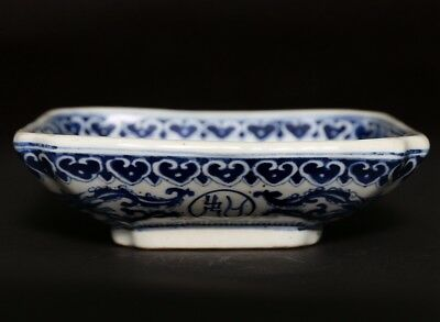 Rare Antique China Blue And White Porcelain Plate Mark KangXi QingDynasty FA485