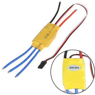 HW30A Brushless Motor Speed Controller ESC For Airplane Helicopter Quadcopter DE