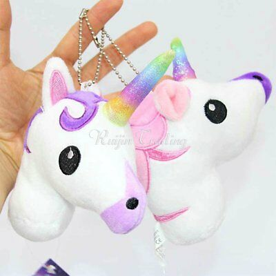 Unicorn Soft Bag Decor Keyring Pendant Keychain Handbag Decor Kid Toys Cute