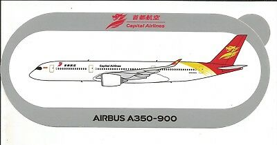 Nouveau !!! Airbus Sticker Autocollant A350-900 Capital Airlines - Neuf