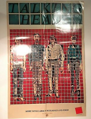 Talking Heads Original 1978 Sire Records Promo Display Poster