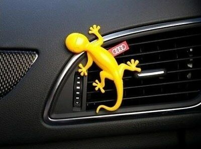 000087009C Genuine Audi Gecko Air Freshener - Yellow - Tropical Fruits scent