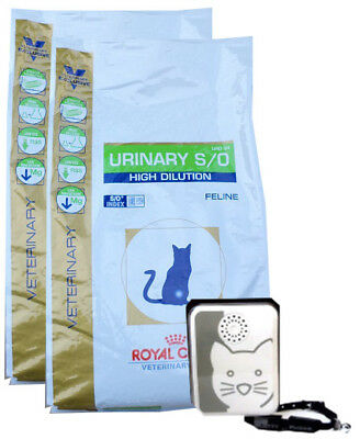 2x7kg Royal Canin Urinary UHD 34 S/O High Dilution + Tchibo Katzen-Türsignal