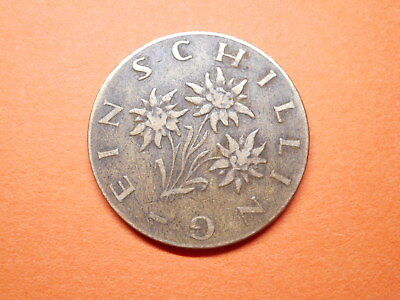 Interesting REPUBLIK OSTEREICH One Shilling Coin 1961.