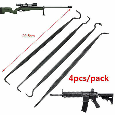 New 4× Gun Cleaning Tool Set Clean Picks Brush Carbon Rifle Pistol Double Ended