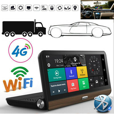 8'' 4G Wifi HD 1080P Android Car GPS Navigation Camera Rear View DVR Europe Map