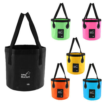 Lightweight Compact Collapsible Water Bucket Fishing Boat Camping Washbasin Bag