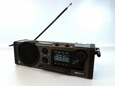 SONY ICF 6000L 4 Band Radio Receiver FM MW LW SW Military Style Outdoor Portable