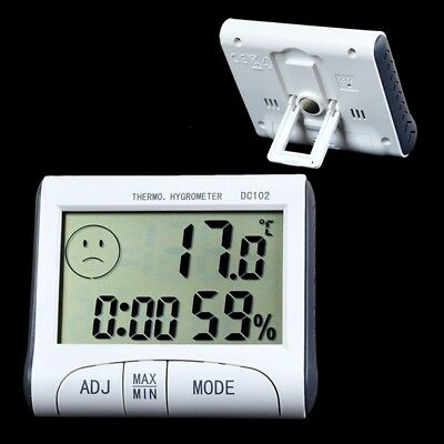 Digital Magnet Thermometer Hygrometer Indoor Room Humidity Meter Temperature