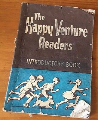 Collectable Vintage THE HAPPY VENTURE READERS - INTRODUCTORY BOOK  FLUFF AND NIP