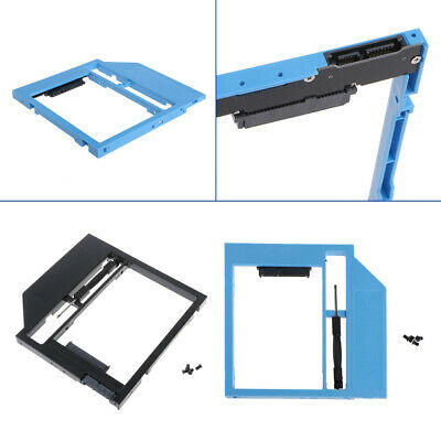 "Second HDD Caddy 2nd SATA To SATA 2.5"" HDD SSD 9.0mm Enclosure For Laptop CD ROM"