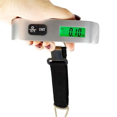 Fosmon Compact Portable Travel Tare 50kg 10g Hanging Digital Luggage Scale