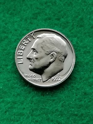 1972-S-  Roosevelt Dime cameo  Uncirculated -proof **free ship**