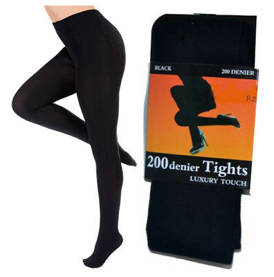 New Women's 200 Denier Soft Touch Luxury Super Thick Winter Warm Comfort Tights