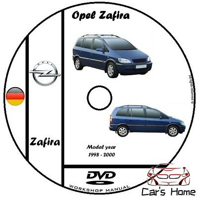 MANUALE OFFICINA OPEL ASTRA & ZAFIRA my 1998-2000 WORKSHOP MANUAL DVD