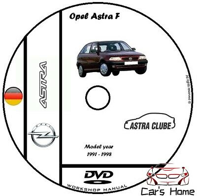 MANUALE OFFICINA OPEL ASTRA F my 1991-1998 WORKSHOP MANUAL DVD