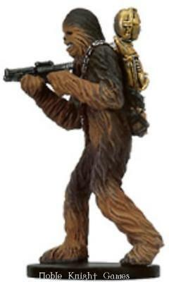 WOTC Star Wars Minis Bounty Hunter Chewbacca with C-3PO SW