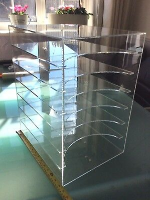 CLEAR Perspex Paper Tray 7 shelf STORAGE A4 craft stationery scrapbooking filing