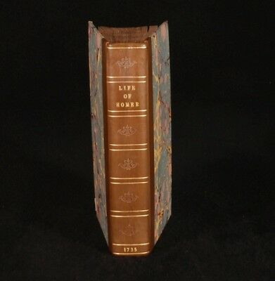 1735 Enquiry into the Life&Writings of HOMER SCARCE 1ST