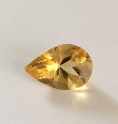 Citrine Faceted Pear 13x9mm Gemstone