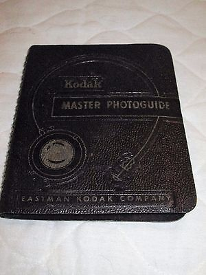 Vintage 1957 Eastman Kodak Master Photoguide Booklet 32 Pages Charts Spin Wheels