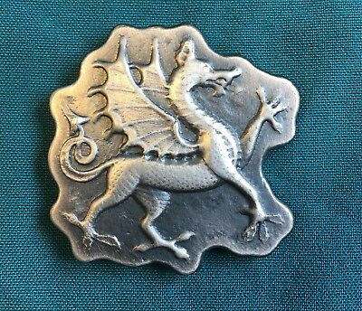 "4oz YPS ""Dragon"" 999 fine silver bar by Yeager's Poured Silver w/ Patina finish"