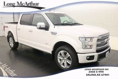 2015 Ford F-150 PLATINUM 4WD 6 SPEED AUTOMATIC CREW CAB MSRP $6158 NAVIGATION MOONROOF BLACK UNIQUE MULTI-CONTOUR LEATHER SEATS 360 DEGREE CAMERA