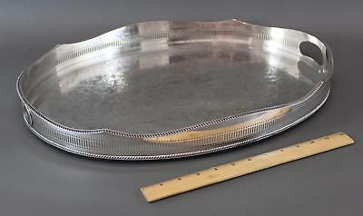 Vintage mid-20thC Israel Freeman & Son, Sheffield England Silverplate Oval Tray