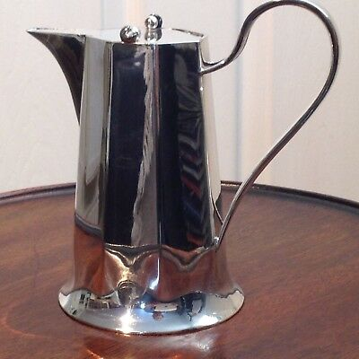 Christopher Dresser Style Silver Plated Pitcher With Pivot Lid