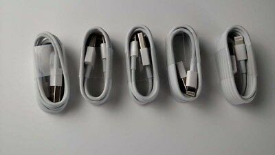 5x Lightning USB Charger Cord Data Cable for iPhone 5 5S 6 6S 3ft Wholesale Lot